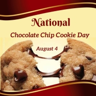national chocolate chip cookie day Instagram Plasing template