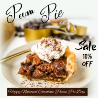 NATIONAL CHOCOLATE PECAN PIE DAY Message Instagram template