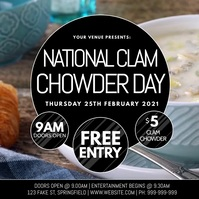 National Clam Chowder Day Video Poster template