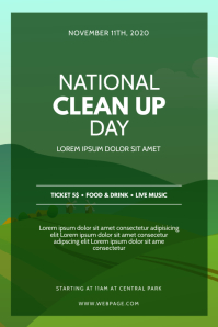 National Clean Up Day Flyer Template