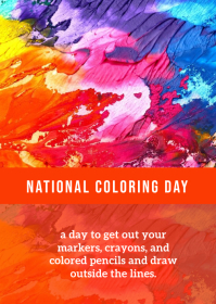 National Coloring Day A6 template