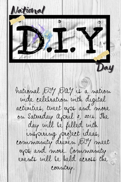 National D.I.Y. Day