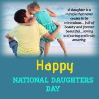national daughters day Instagram Post template