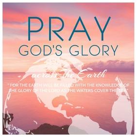 National Day of Prayer Poster Template Kvadrat (1:1)