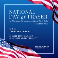 national day of prayer scoial graphic โพสต์บน Instagram template