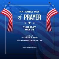 national day of prayer social graphic Message Instagram template