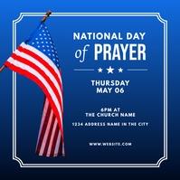 national day of prayer social graphic Publicação no Instagram template