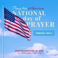 national day of prayer social graphic Instagram-opslag template
