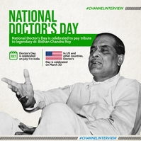 National Doctor's Day 2021 Template Instagram Post