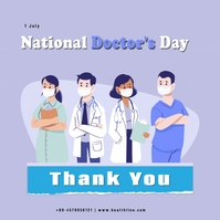 National Doctor's Day Сообщение Instagram template