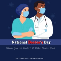 National Doctor's Day Instagram 帖子 template