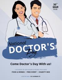 National Doctor's Day Flyer Design Template Løbeseddel (US Letter)