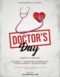 National Doctor's Day Flyer Design Template
