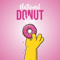 National Donut Day Logotipo template