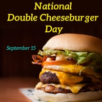 national double cheeseburger day Instagram-Beitrag template