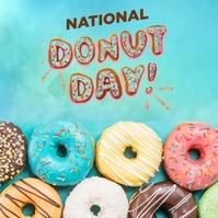 national doughnut day Instagram Post template
