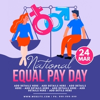 National Equal Pay Day Poster template