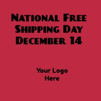 National Free Shipping Day Pos Instagram template