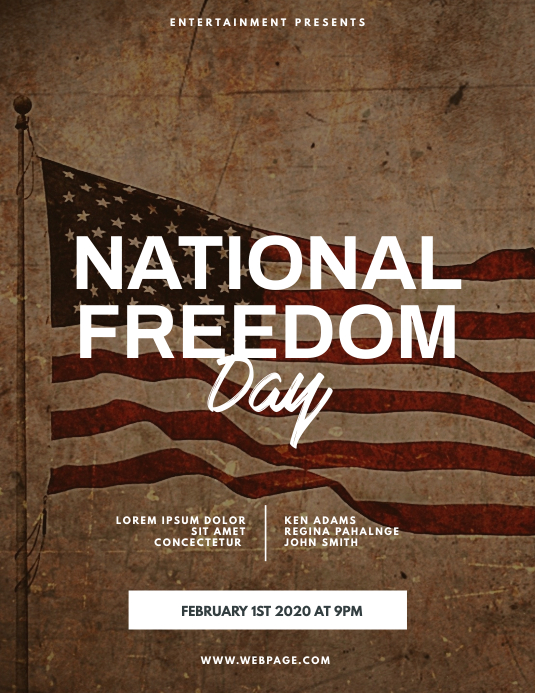 National Freedom Day Flyer Design Template ใบปลิว (US Letter)