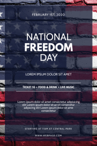 National Freedom Day Flyer Template Affiche