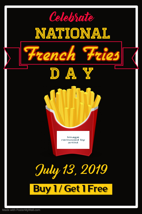 National French Fries Day Poster