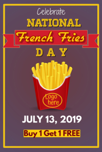 National French Fries Day Poster Cartaz template