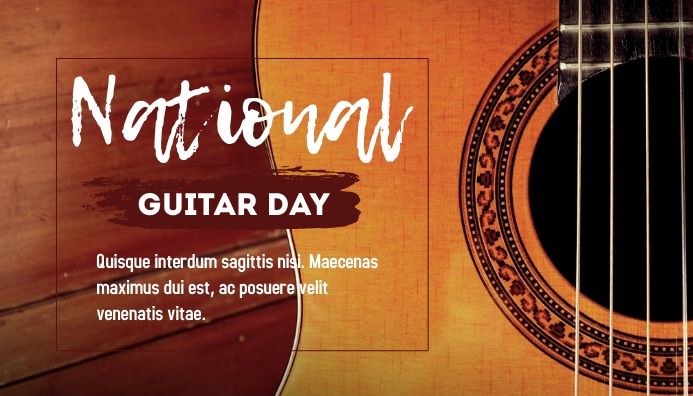 National Guitar Day Templates Blog Header