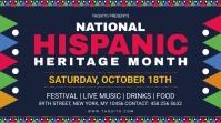 National Hispanic heritage month digital sign Display digitale (16:9) template