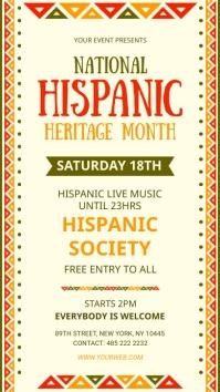 National hispanic heritage month digital sign template