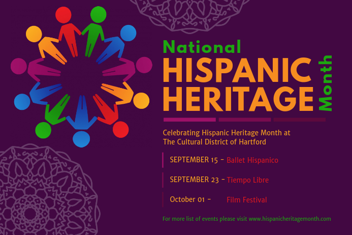 National Hispanic Heritage Month Event Schedule Poster