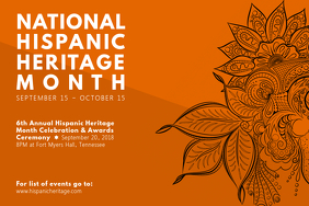 National Hispanic Heritage Month Poster with Filigrees template