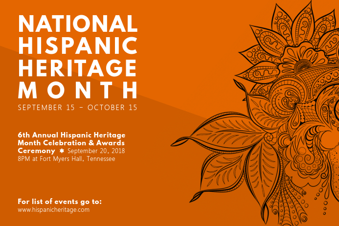 National Hispanic Heritage Month Poster with Filigrees Póster template