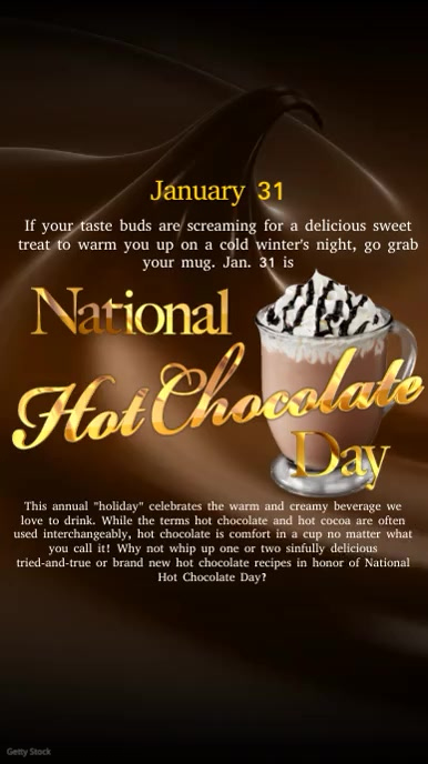 National Hot Chocolate Day Video