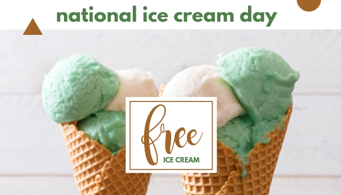 National Ice Cream Day Blog overskrift template