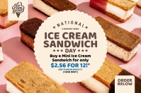 National Ice Cream Sandwich Day Template Poster