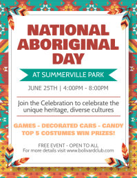National Indigenous Day Event Flyer template