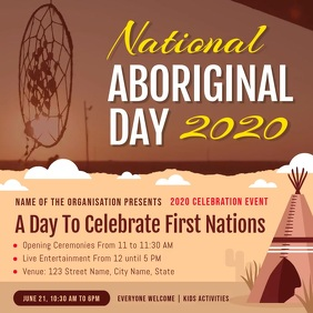 National Indigenous Day Event Instagram Video Square (1:1) template