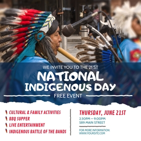 National Indigenous Day Event Invitation Inst Instagram Post template