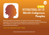 national indigenous day postcard template