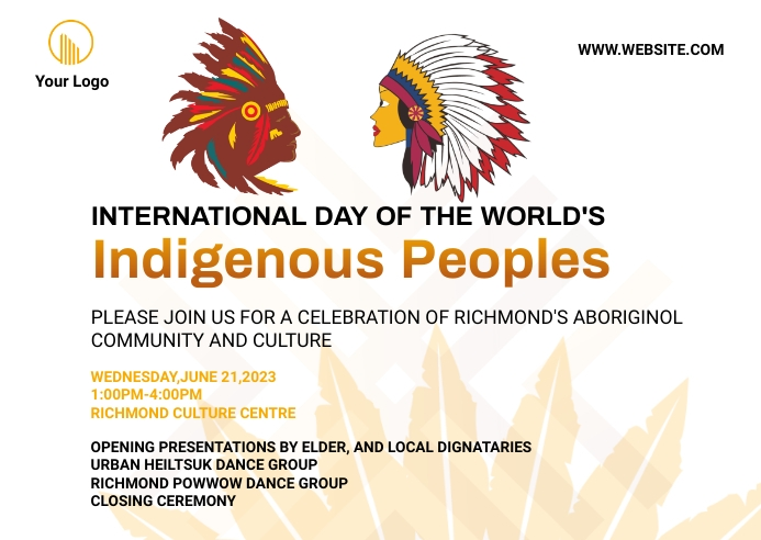 national indigenous day Postcard ไปรษณียบัตร template