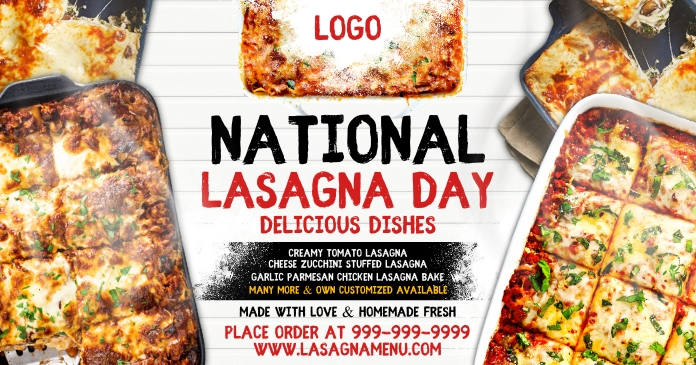 National Lasagna Day 2021 Template Facebook Shared Image