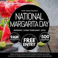 National Margarita Day Poster โพสต์บน Instagram template