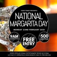 National Margarita Day Video Poster Instagram-bericht template