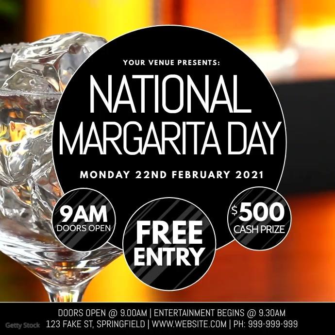 National Margarita Day Video Poster Instagram 帖子 template