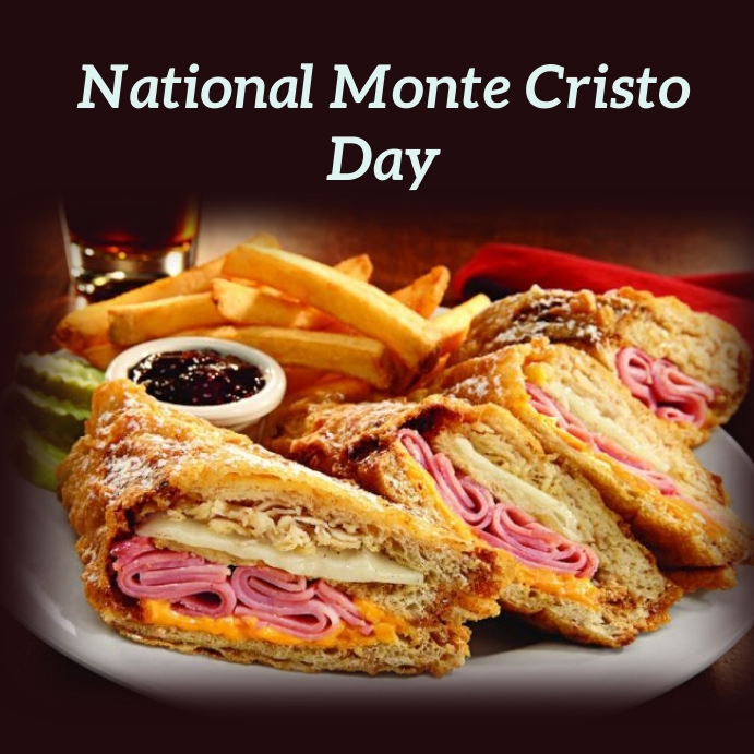 national monte cristo day Instagram Post template