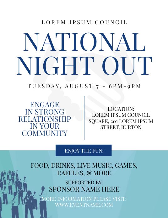 National Night Out Flyer Template Postermywall