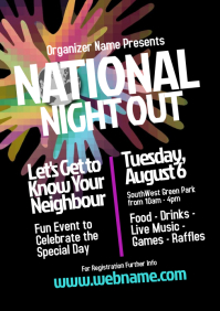 National Night Out Flyer Template A4