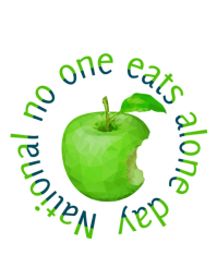 National no one eats alone day Flyer (Letter pang-US) template