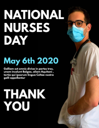 national nurses day flyer design template
