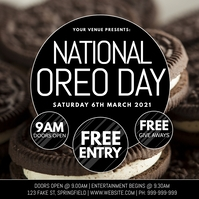National Oreo Day Poster template